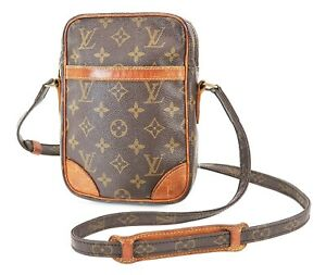 Authentic LOUIS VUITTON Danube Monogram Crossbody Shoulder Bag Purse #38127