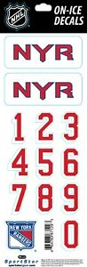 NEW YORK RANGERS NHL LICENSED OFFICIAL ON-ICE BLUE HELMET DECALS
