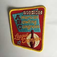 1959 1960 ABC American Bowling Congress Bowling Patch