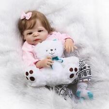 23'' Real Lifelike Reborn Baby Doll Full Body Silicone Vinyl Newborn Dolls Girl