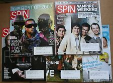 Lot of 5 2008 Spin Music Magazines Kanye West Paramore R.E.M. My Morning Jacket