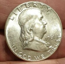 USA  FRANKLIN HALF DOLLAR 50 CENTS 1961 90% SILVER COIN UNC