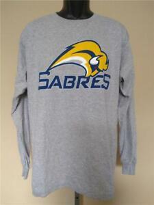 New Buffalo Sabres Mens Size M Medium Gray Long Sleeve Shirt