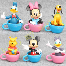 6 Pcs Disney Cup Figure Cake Topper Mickey Mouse Clubhouse Minnie Donald Kid