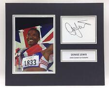 RARE Denise Lewis Olympics Signed Photo Display + COA AUTOGRAPH HEPTATHLON