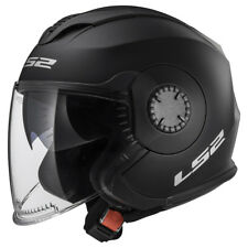 Ls2 casco moto Jet Of570 verso mono Matt negro 3XL