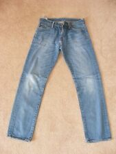 LEVIS 504 JEANS W30 L32 USED LAUNDERED & PRESSED LIGHT BLUE STRAIGHT LEG