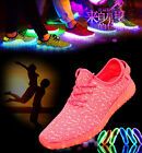 New Unisex 7 Color Boy Girls Luminous Breathable Sneakers Led USB Light Up shoes