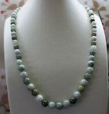 100% Natural Grade (A) Untreated Multi-Color Jadeite JADE Beads Necklace #N143
