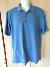Nike Golf Fit Dry men's 65%cotton 35% polyester blue polo shirt size L