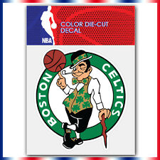 "Boston celtics NBA Die Cut Vinyl Sticker Car Bumper Window 4""x3.7"""