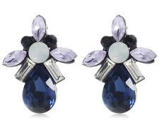 1 Pair Elegant Multi Crystal Rhinestone  Ear Drop Dangle Stud long  Earrings 109