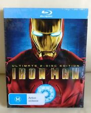 Iron Man Bluray Metal Slip (Not Steelbook)  , Australia JBHifi, New/Sealed