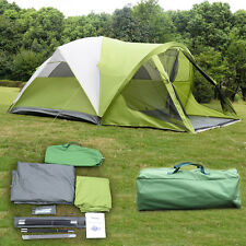 6 Person 2 Room Waterproof Camping Tent Double Layer Family Outdoor Hiking W/Bag