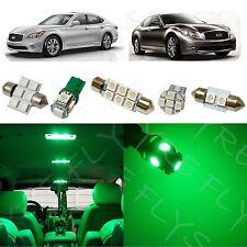 11x Green LED light interior package for Infiniti M35/M37/M45 IM1G