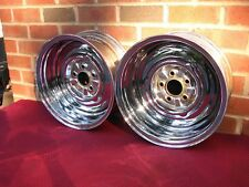 VINTAGE 14 x 6  CHROME REVERSE WHEELS SMALL BOLT MOPAR 5X4 BOLT PATERN