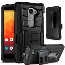 LG Treasure 4G LTE case ,Hard & Soft Shockproof  Rubber Defender Kickstand Cover