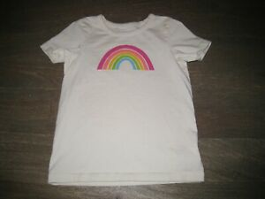 EUC Hanna Andersson (Moon & Back) Top - Off-white w/ rainbow 110 (5-6 yrs)