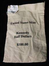 2001 P & D $100 Face value Mint Sewn Bag Kennedy Halves