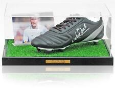 Vinnie Jones Hand Signed Football Boot Leeds United AFTAL Photo Proof COA
