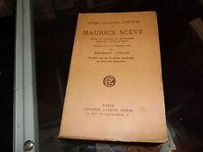 Oeuvres Poétiques Complètes de Maurice Scève