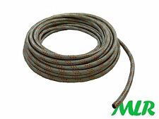 MG MIDGET MGA MGB GT V8 MGC 8MM GALVANISED STEEL BRAIDED FUEL HOSE PIPE MLR.IW