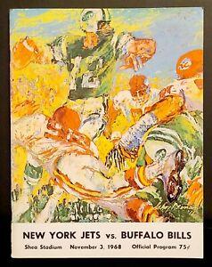 1968 NOVEMBER 3, NFL FOOTBALL NEW YORK JETS VS BUFFALO BILLS PROGRAM