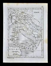 1835 Levasseur Map - Italy - Rome Florence Venice Naples Sicily Milan Malta