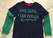 new boys long sleeve santa i can explain shirt size 4t green christmas holiday - Christmas Shirts For Boys