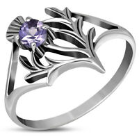 Replica Limited Edition Outlander Thistle Knot Ring Solid Sterling Silver