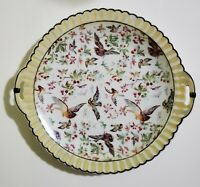 RUDOLSTADT GERMANY HAND PAINTED DECORATIVE PLATE WITH BIRDS