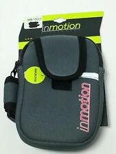 IN MOTION ADJUSTABLE REFLECTIVE ARM BAND POUCH IMB-15001 GRAY/BLACK,FREE SHIPPIN
