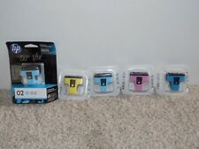 HP Ink Cartridges- 02 Light Cyan, Blue, Yellow, Pink Expired