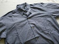 Issey Miyake Japan navy blue stripe plaid checks long sleeve shirts large