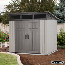 """Lifetime Garden Storage Shed 7ft 6"""" x 7ft 6"""" 2.32 x 2.32m with Durable Dual Wall"""