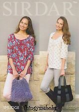 SIRDAR 7864 SMUDGE CHENILLE BAGS ORIGINAL KNITTING PATTERN - 2 STYLES