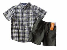 NWT Boy's Gymboree Desert Explorer short sleeve shirt & green elastic shorts ~ 5