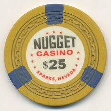 NUGGET CASINO SPARKS NV $25 CHIP ZIGZAG MOLD 1963