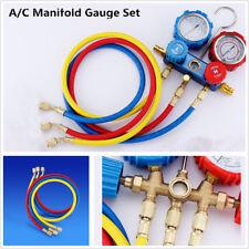 Air Conditioning Fluoride Pressure Gauge Refrigerant 2 Meter Valve Fluid R134A