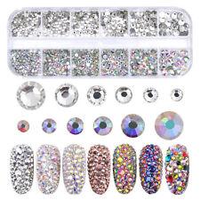 Glass Rhinestones AB Crystal 3D Charm Gems DIY Manicure Nail Art Decorations-