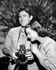 American Actor Gregory Peck Uses A Noviflex Camera Watched By Costar OLD PHOTO