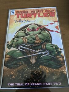 Teenage Mutant Ninja Turtles Issue 74. Planet Awesome Variant SIGNED BY KEVIN E