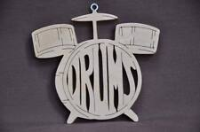 Drum Band Instrument Drummer Wood Christmas Ornament Hand Cut USA