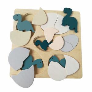 Holzpuzzle Dino Einlegepuzzle Dinosaurier Setzpuzzle Steckpuzzle Kinder Puzzle