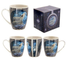 FANTASY Ululando Lupo Bone China tazza da te' , CAFFE 'Scatola Regalo Decorazione MULP 18