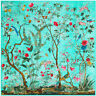 "Women's Fashion Printed Vintage Flower Faxu Silk Shawl Big Square Scarf 51""*51"""