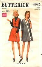Vintage 1960s Butterick Sewing Pattern Women's DRESS JUMPER 4925 Sz 10 UNCUT
