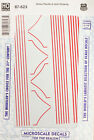 Microscale Decal HO #87-623 Union Pacific E-Unit Striping (Decal Sheet)