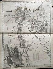 LA CARTE DE L'EGYPTE ANCIENNE ET MODERNE 1753