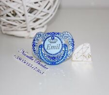 Avent 6-18 Personalized pacifier with Swarovski Crystals. Bling dummy pacifier